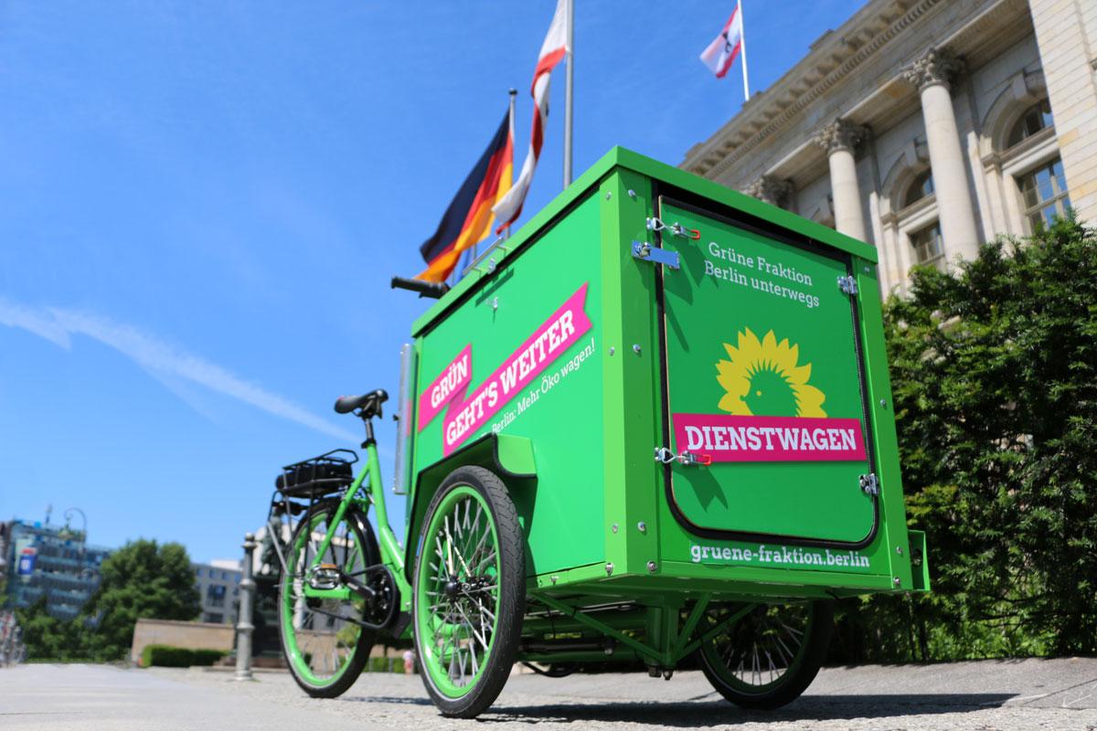 Grün geht's weiter mit dem Lastenfahrrad der Fraktion | Grüne Fraktion Berlin