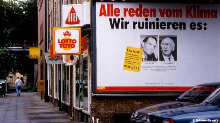 Plakataktionen von Klaus Staeck - Greenpeace 1990